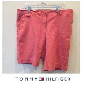 Tommy Hilfiger Pants - Tommy Hilfiger Pale Red High Rise Long Shorts