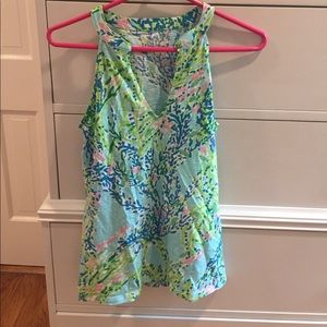 Lilly Pulitzer Coral patterned XS tank top