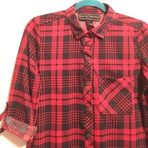 Polly & Esther Tops - Plaid top -urban outfitters