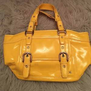 Yellow Patent Leather Shoulder Bag
