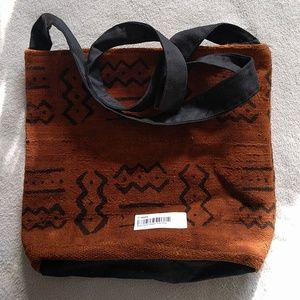 Handbags - African Mudcloth Zipper Tote Bag
