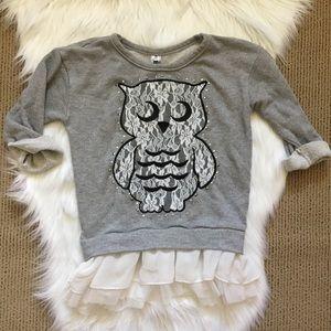 Beautees Other - Girl's Owl Sweatshirt Tunic Top