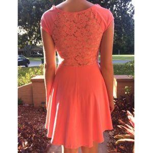 Hollister Dresses & Skirts - Pink lace dress