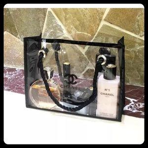 CHANEL Handbags - Chanel beaute clear make up bag