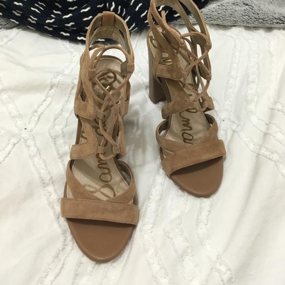 8ffdd4c86a8d Sam Edelman Yardley Lace-Up Heeled Sandal. M 5906796ac28456ccc70c2eb4