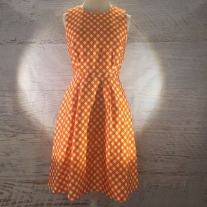 RARE Kate Spade orange gingham dress size 4