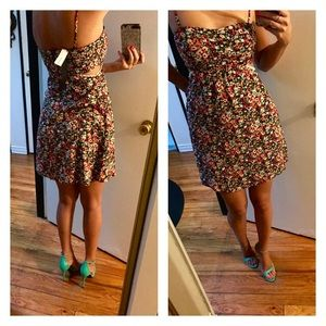 Dresses & Skirts - Ark & co floral mini summer dress with cutouts