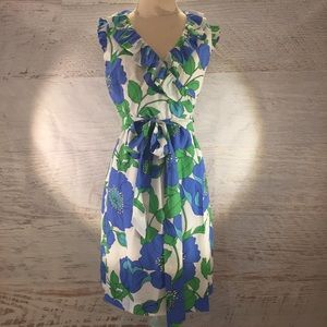 Kate Spade silk blend wrap dress small 4/6