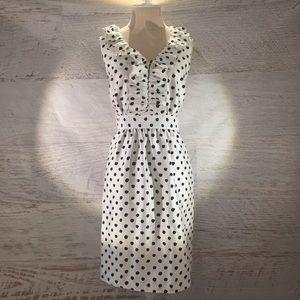NWT Kate Spade silk polka dot dress size 8