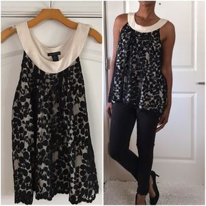 Grace Elements Tops - Black Lace Trapeze Top