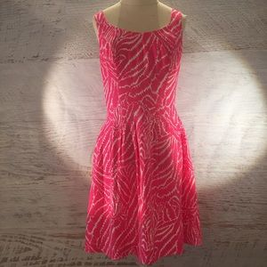 NWT Lilly Pulitzer hot pink zebra silk dress 4