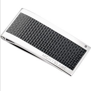 Montblanc Other - Montblanc money clip black carbon and silver