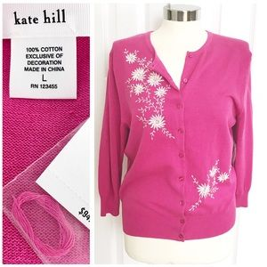 Kate Hill Tops - NWT Kate Hill Pink Cardigan