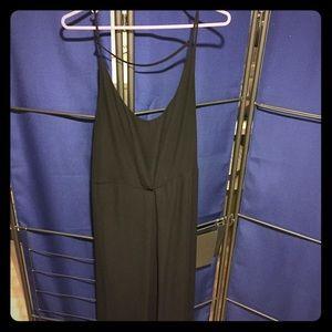 Black draped maxi dress