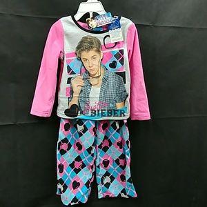 Justin Bieber Other - Justin Bieber little Girl Pajama 2pcs Set