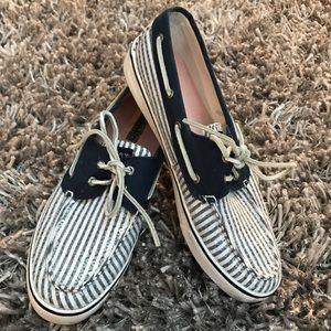 Sperry Top-Sider Shoes - Sperry Top-Sider Sneakers Boat Shoes Stripe Sequin