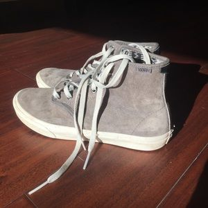 Vans Shoes - Grey Suede Vans High tops