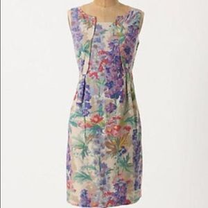 Anthropologie floral linen dress 4