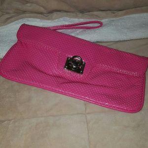 Express Hot Pink Wrislet/Clutch