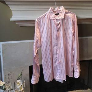 Eton Other - Eton red and pink striped dress shirt
