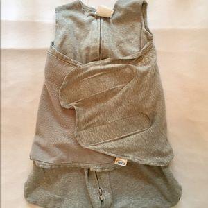 Halo Other - Grey cotton sleepsack newborn