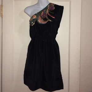 Monsoon Dresses & Skirts - Monsoon Fusion embellished one shoulder dress sz 4