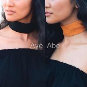 Jewelry - black wide faux suede choker necklace Jewelry