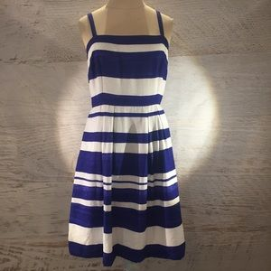 LOFT blue and white sundress 2