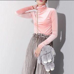 Nordstrom Sweaters - Light Pink Velvet Turtle Neck