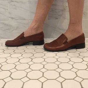 Vintage Shoes - Vintage Brown Loafers