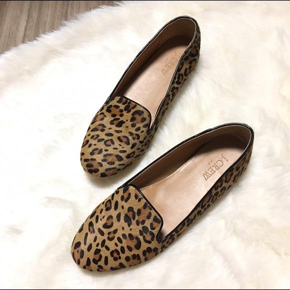 f1e01e377fd J. Crew Shoes - J.Crew Cora Leopard Calf Hair Loafers