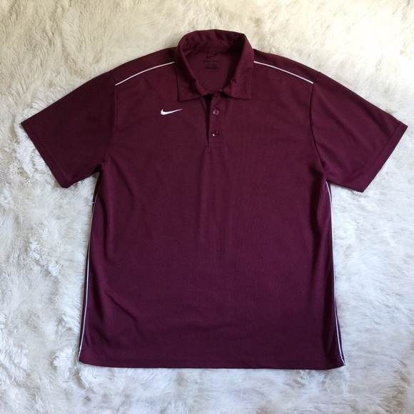 62 off nike other nike dri fit polo men 39 s maroon white for Maroon dri fit polo shirt