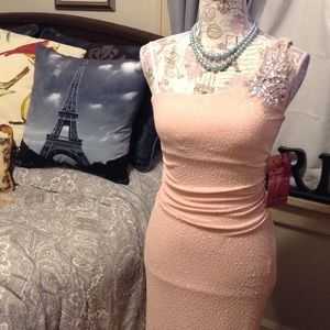 Emerald Sundae Dresses & Skirts - 💎🌸NWT! Blush Pink and Silver Gown🌸💎