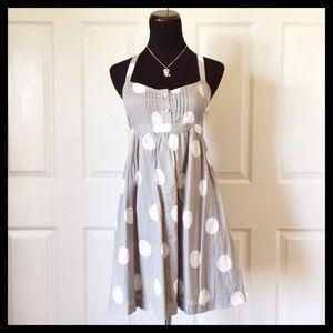 {VS - PINK} Gray Polka Dot Dress