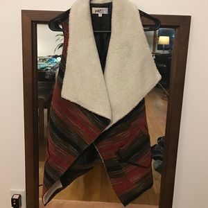 Jolt Jackets & Blazers - Red multi-color wool lined vest