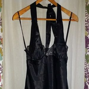 Frederick's of Hollywood Other - Frederick's of Hollywood Black Lace Halter Dress