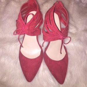 Red pumps size 12W