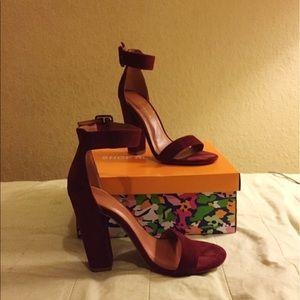 Shoe Republic LA Shoes - BOISE BURGUNDY THICK HEEL