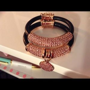 "Joan Boyce Jewelry - Joan Boyce Pave Crystal & Leather❤️ ""Love"" Charm💕"