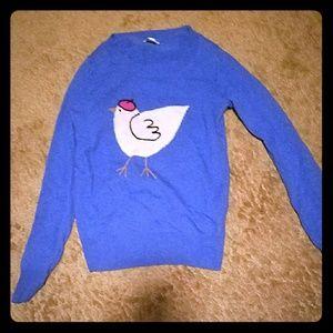 J crew chicken libraries sweater xxs