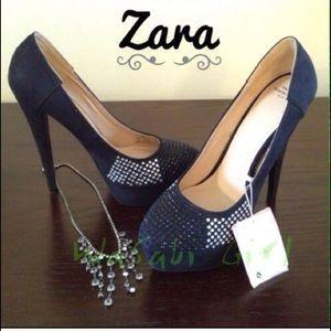 Zara Shoes - 🔴BOGO🔴 Like New ✨ Zara Rhinestone Stilletos
