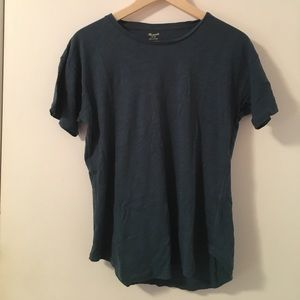 madewell whisper cotton crew neck tee in blue