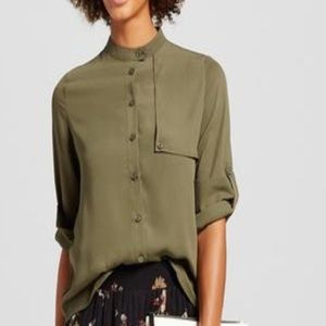 Who What Wear Trench blouse