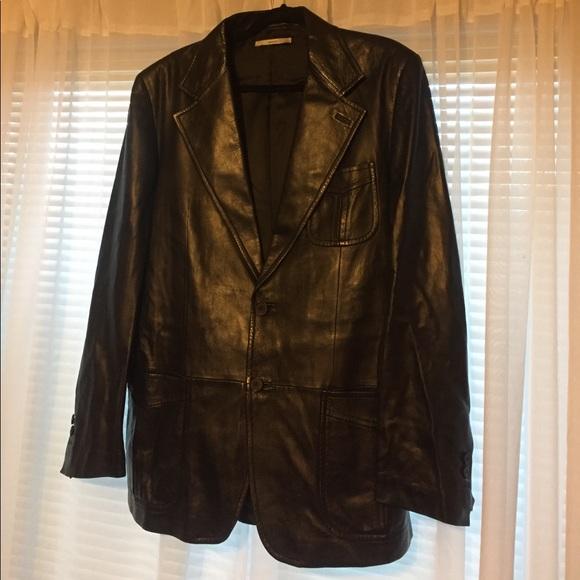 2d6f3f8f17 Vintage YSL men's leather jacket