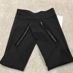 lululemon athletica Pants - Lululemon Wunder Under Pant *Ruffled Up NWT/8 BLK