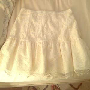 J.Crew Collection Lace Flounce Skirt