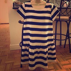 Piperlime Dresses & Skirts - Pim + Larkin striped drop waist dress 👗