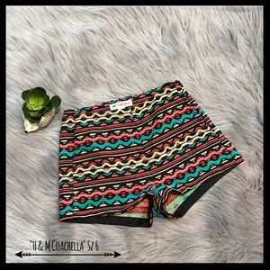 H&M Coachella High Waisted Printed Shorts