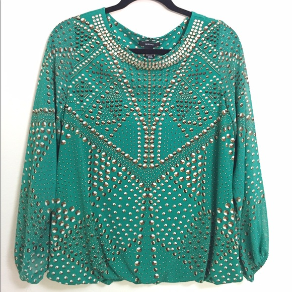Alfani Tops Dressy Long Sleeve Blouse Poshmark