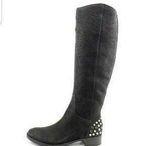 Rachel Roy Black leather boots